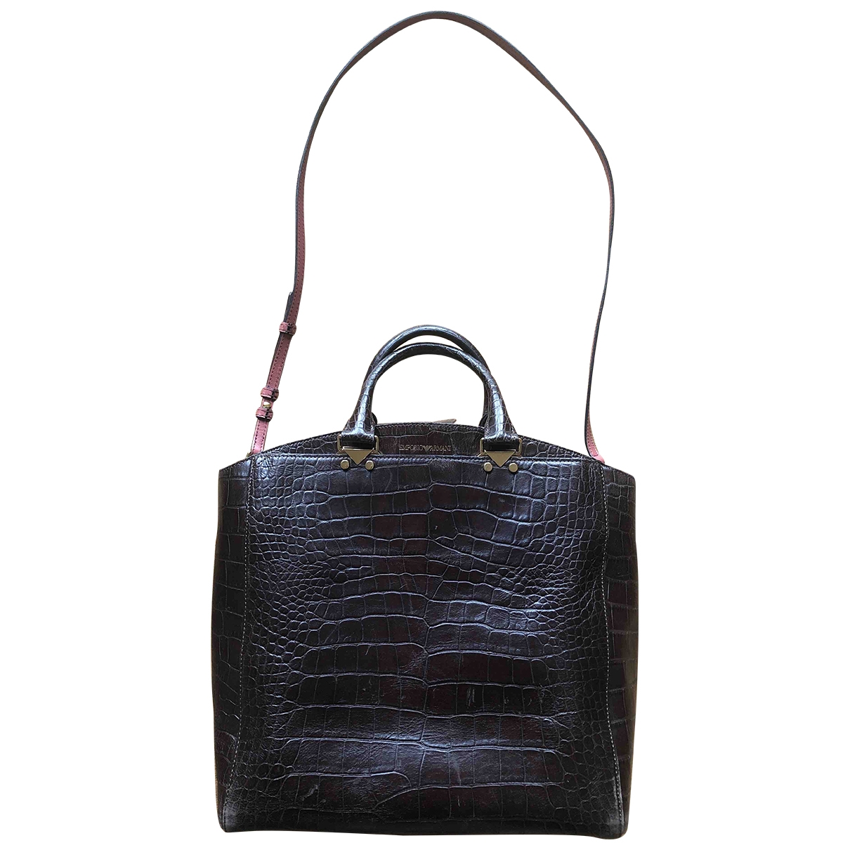 Emporio Armani \N Brown Leather handbag for Women \N