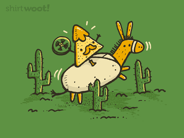 Nacho Panza Riding A Burrito T Shirt