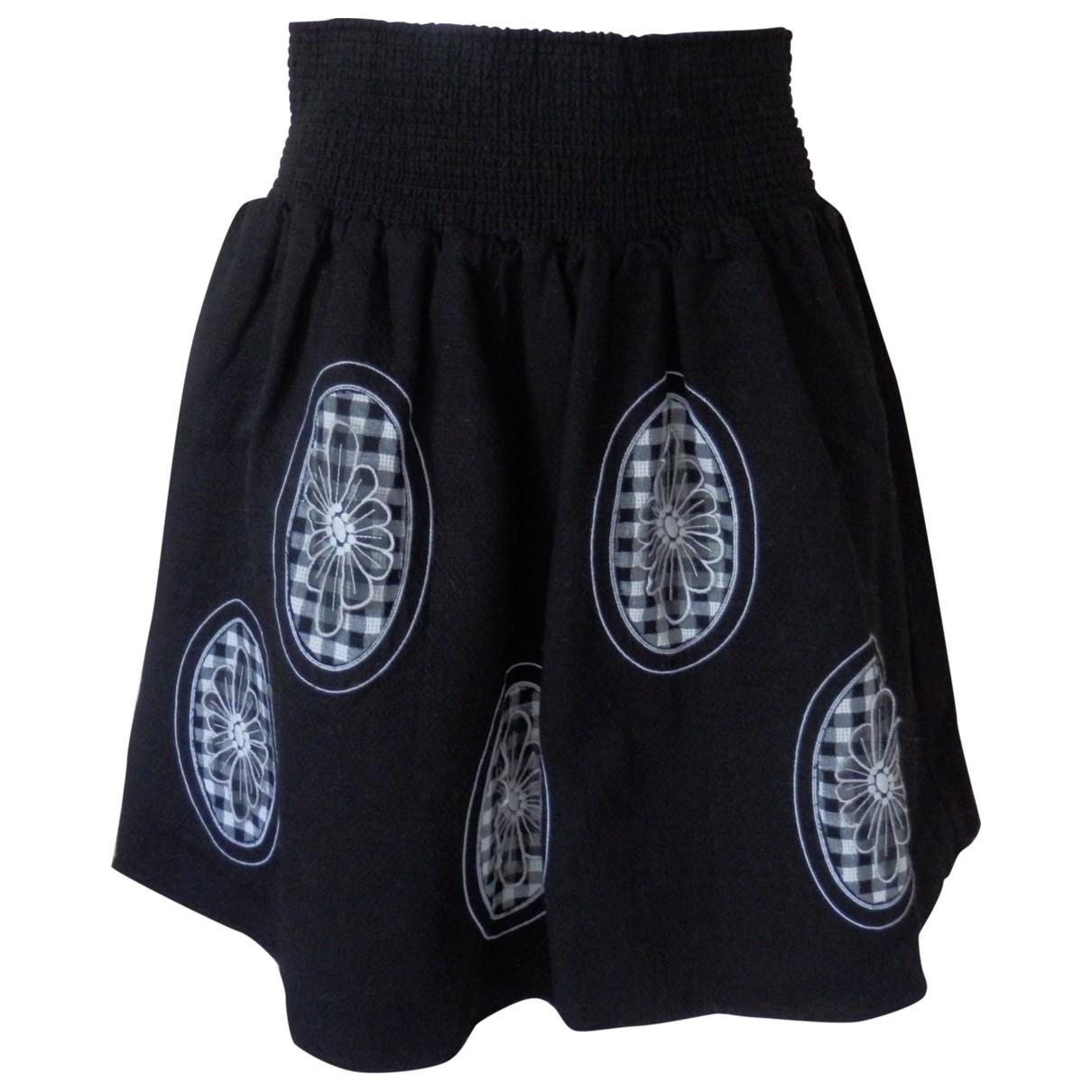 Manoush \N Black Cotton skirt for Women 42 IT