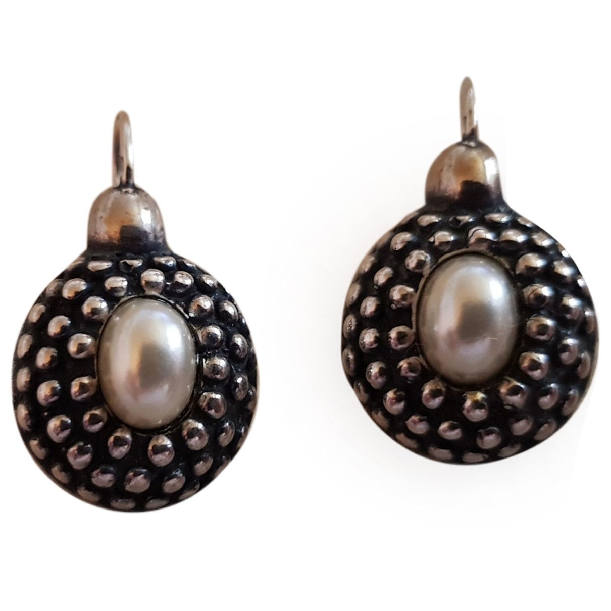 Non Signé / Unsigned Nacre Silver Silver Earrings for Women \N