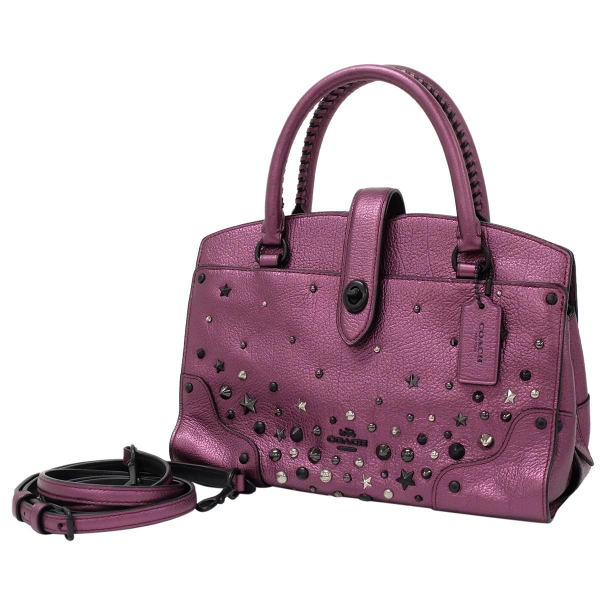Coach \N Purple Leather handbag for Women \N