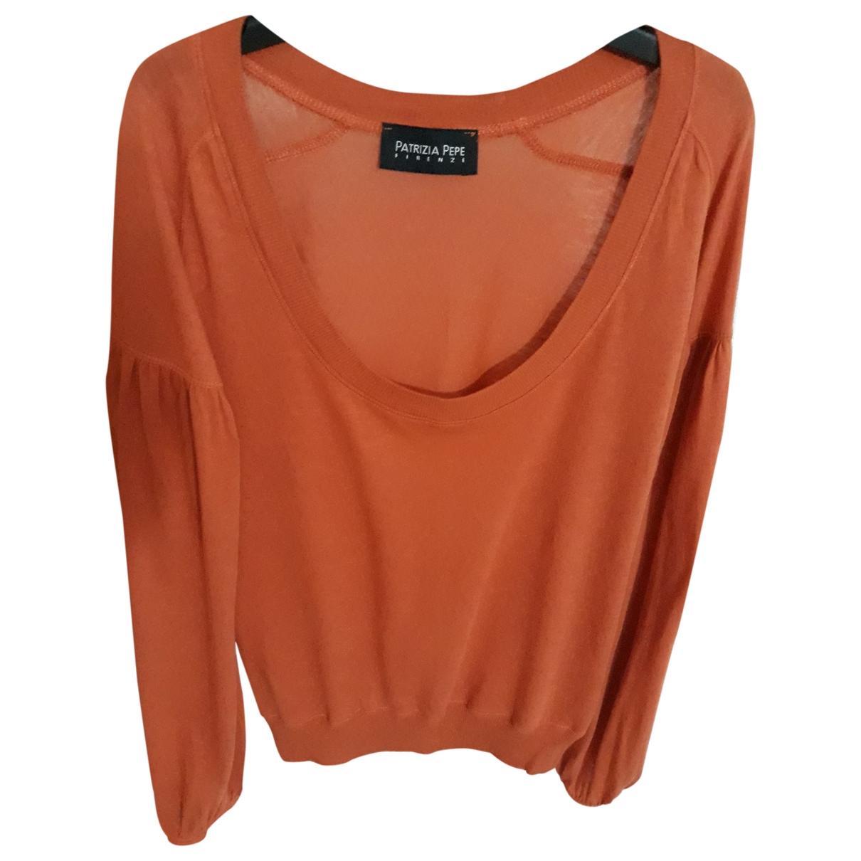 Patrizia Pepe \N Orange Cotton  top for Women M International