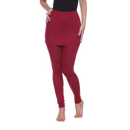 White Mark Skirted Womens Mid Rise Legging, X-large , Red