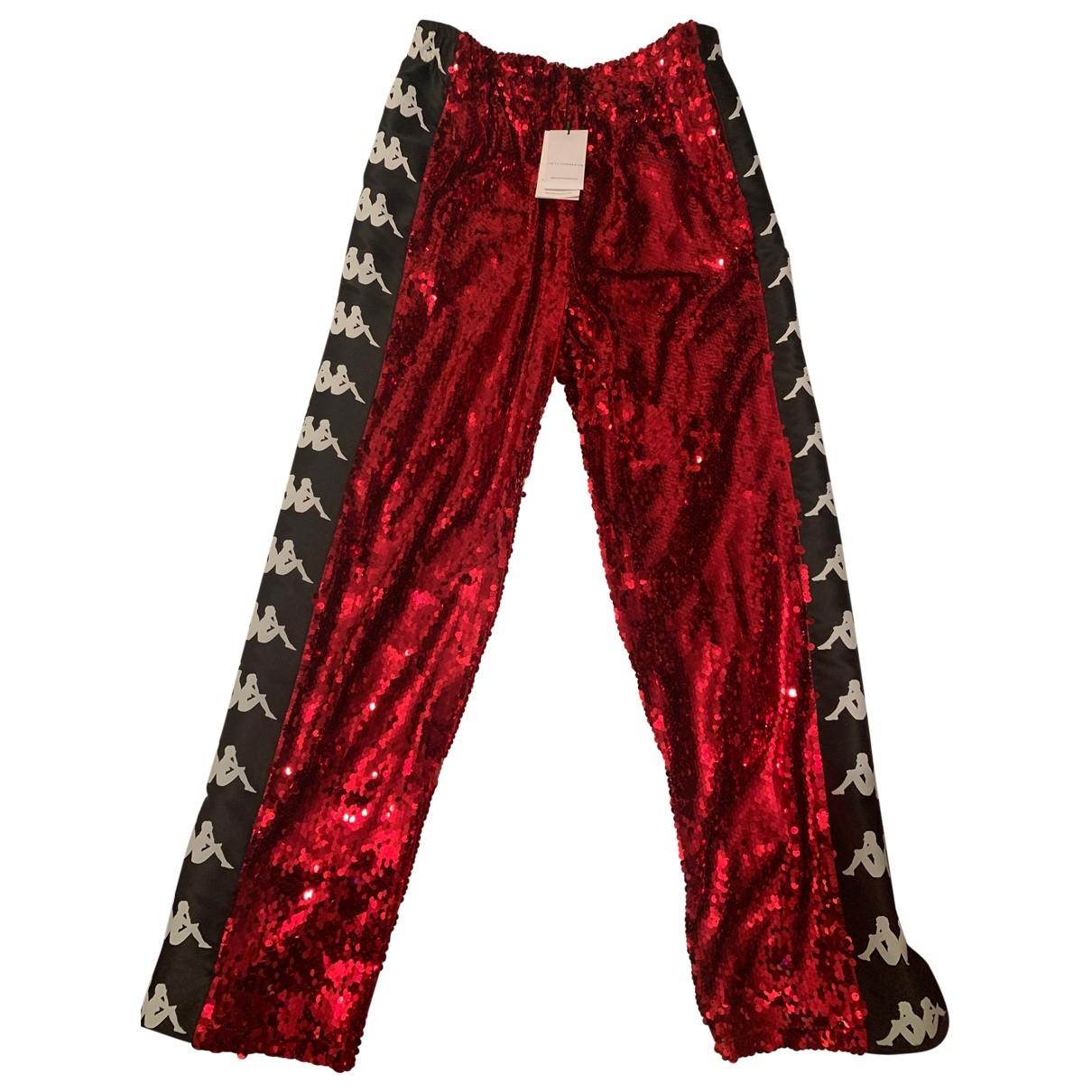 Faith Connexion \N Metallic Cotton Trousers for Women 40 FR