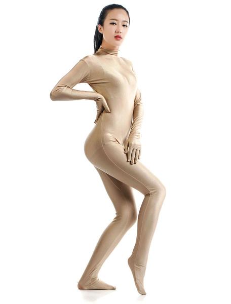 Milanoo Fleshcolor Morph Suit Adults Bodysuit Lycra Spandex Catsuit for Women