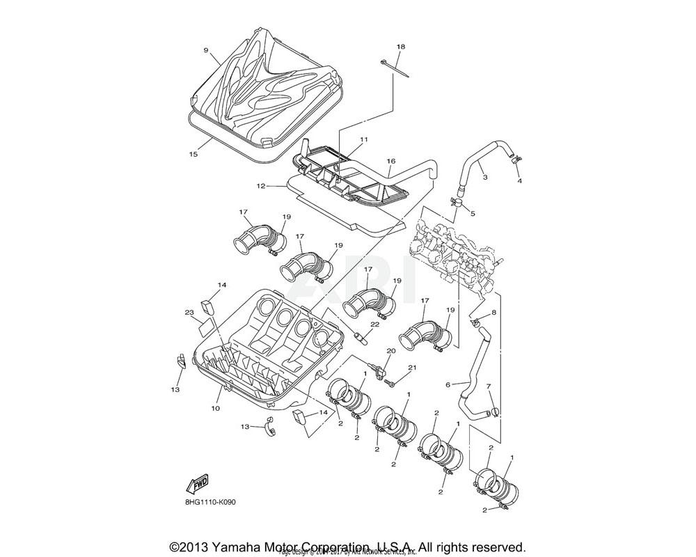 Yamaha OEM 8HG-1243A-00-00 HOSE 1