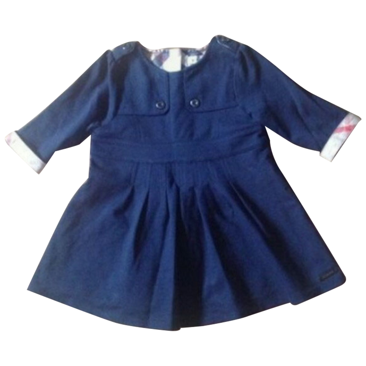 Burberry \N Navy Cotton dress for Kids 6 months - up to 67cm FR