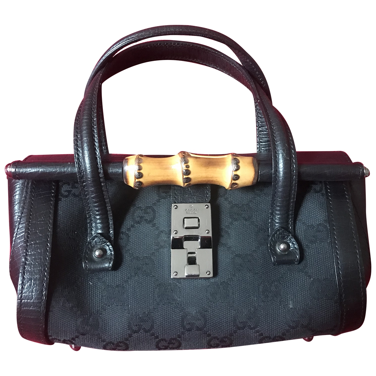 Gucci Bamboo Black Cloth handbag for Women \N
