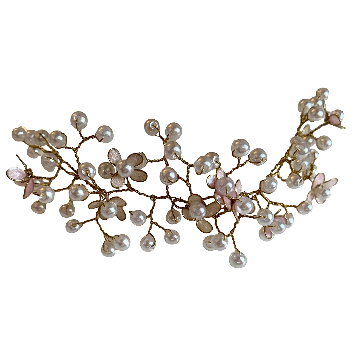 Non Signé / Unsigned \N White Pearl Hair accessories for Women \N