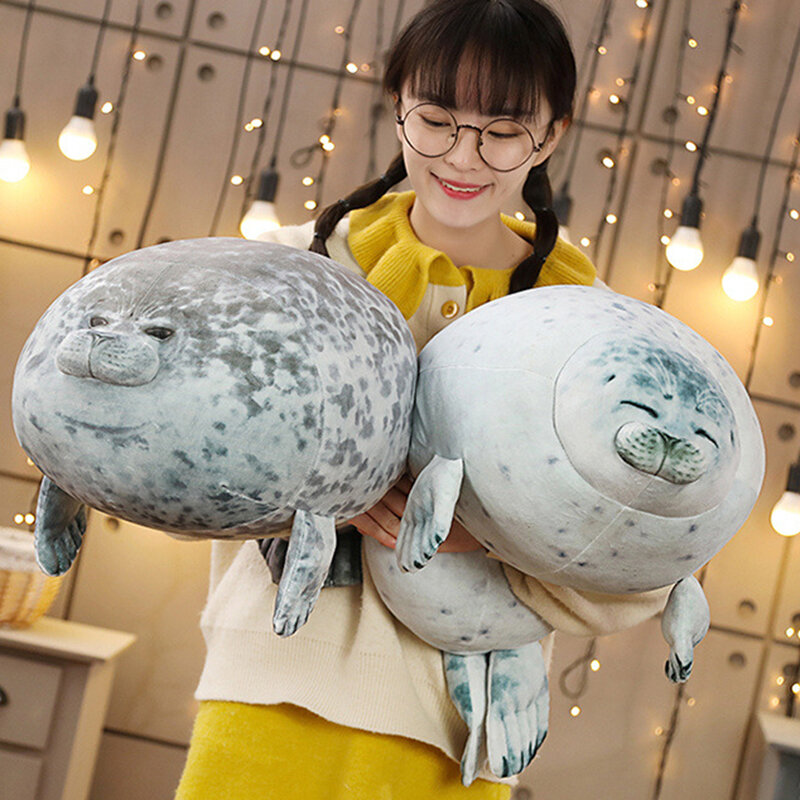 Sea Lion Plush Toys 3D Novelty Throw Pillows Soft Stuffed Toy
