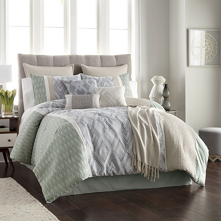 JCPenney Home Jasper 10-pc. Comforter Set, One Size , Multiple Colors
