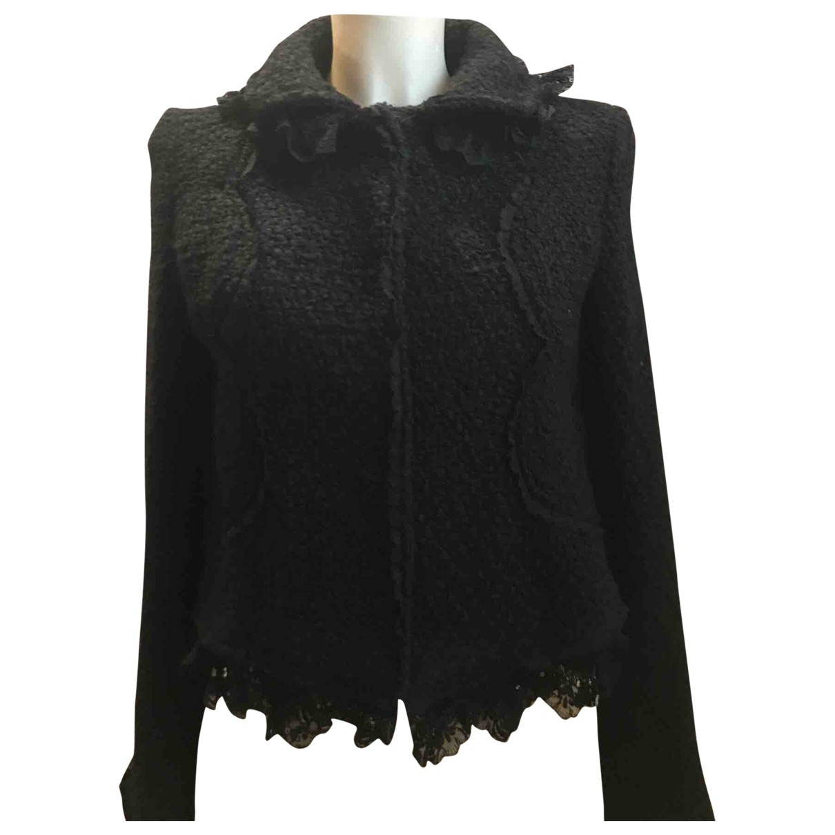 Non Signé / Unsigned \N Black Wool jacket for Women 44 IT