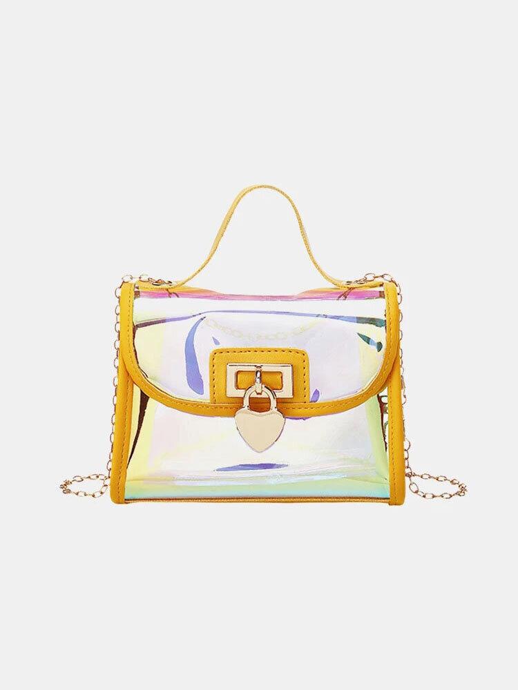 Women Laser Chain PVC Crossbody Bag Shoulder Bag