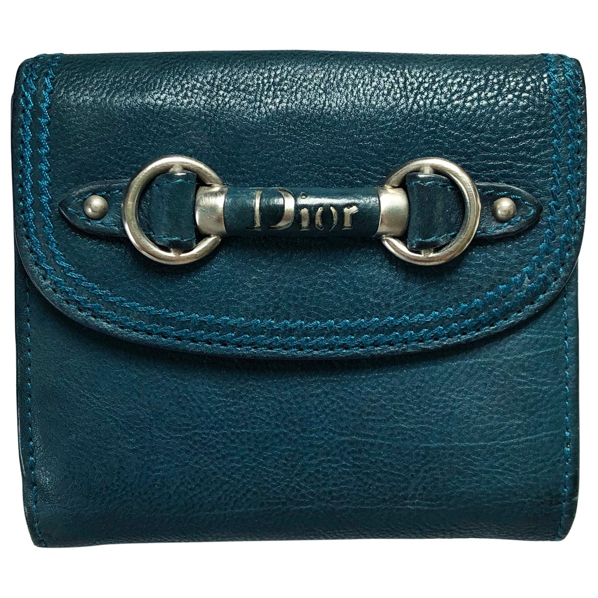 Dior \N Blue Leather wallet for Women \N