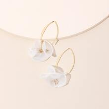 Floral Decor Drop Earrings