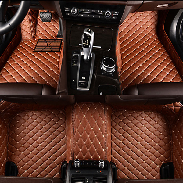 Bright Color Custom-Made Anti-Slipping All Surround Type Leather Car Floor Mats Anti-skid Wear-resistant Dirt-resistant Durable And Breathable