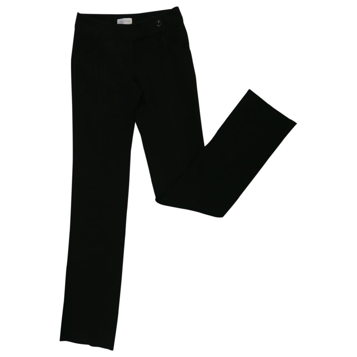 Valentino Garavani \N Black Wool Trousers for Women 40 IT