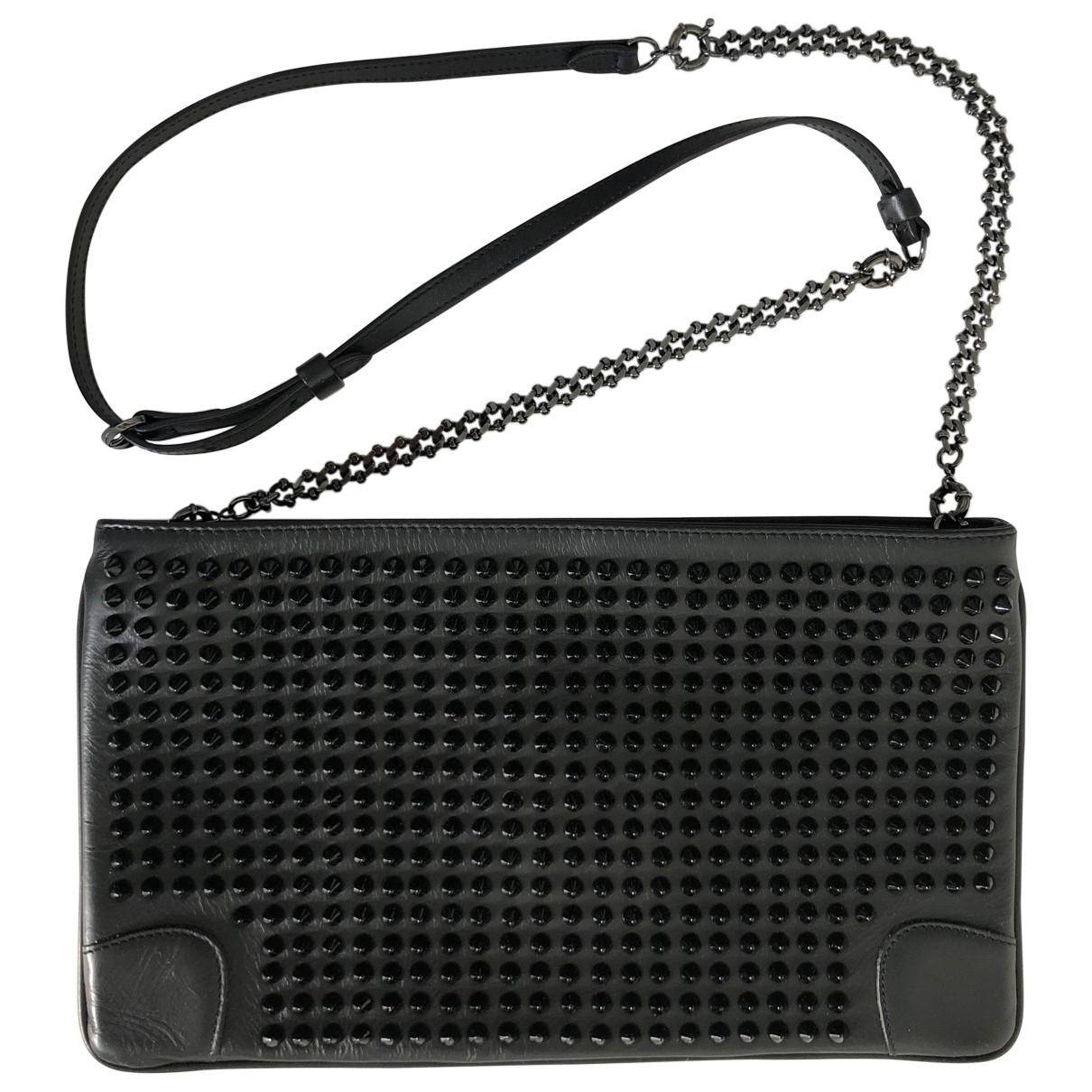 Christian Louboutin Loubiposh Black Leather Clutch bag for Women \N