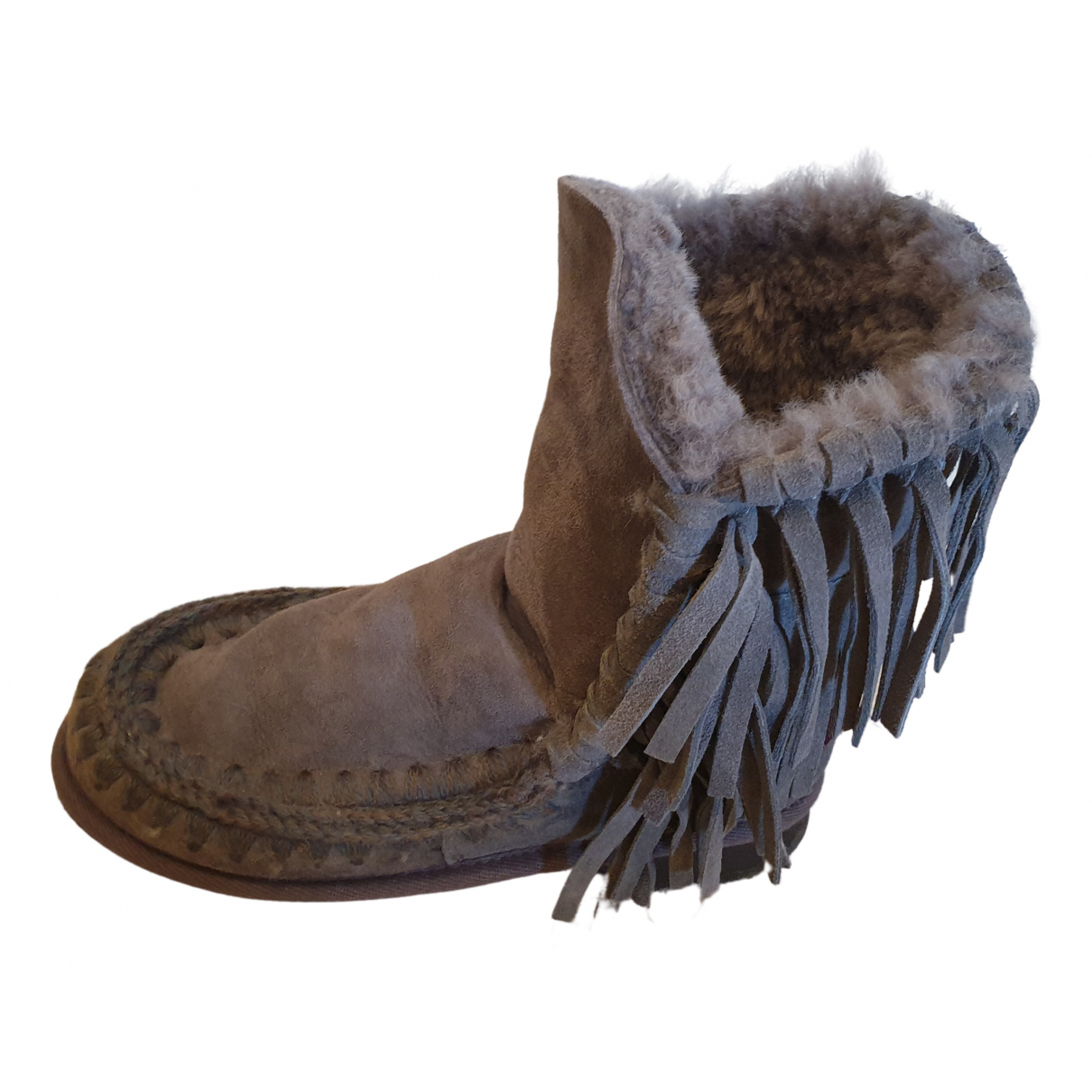 Mou \N Grey Suede Boots for Women 37 EU