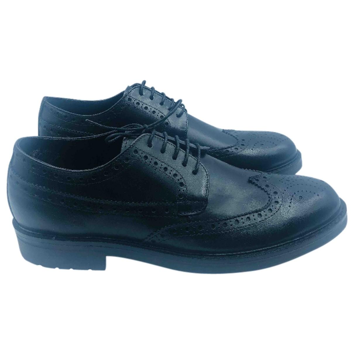 Trussardi \N Black Leather Flats for Men 46 EU