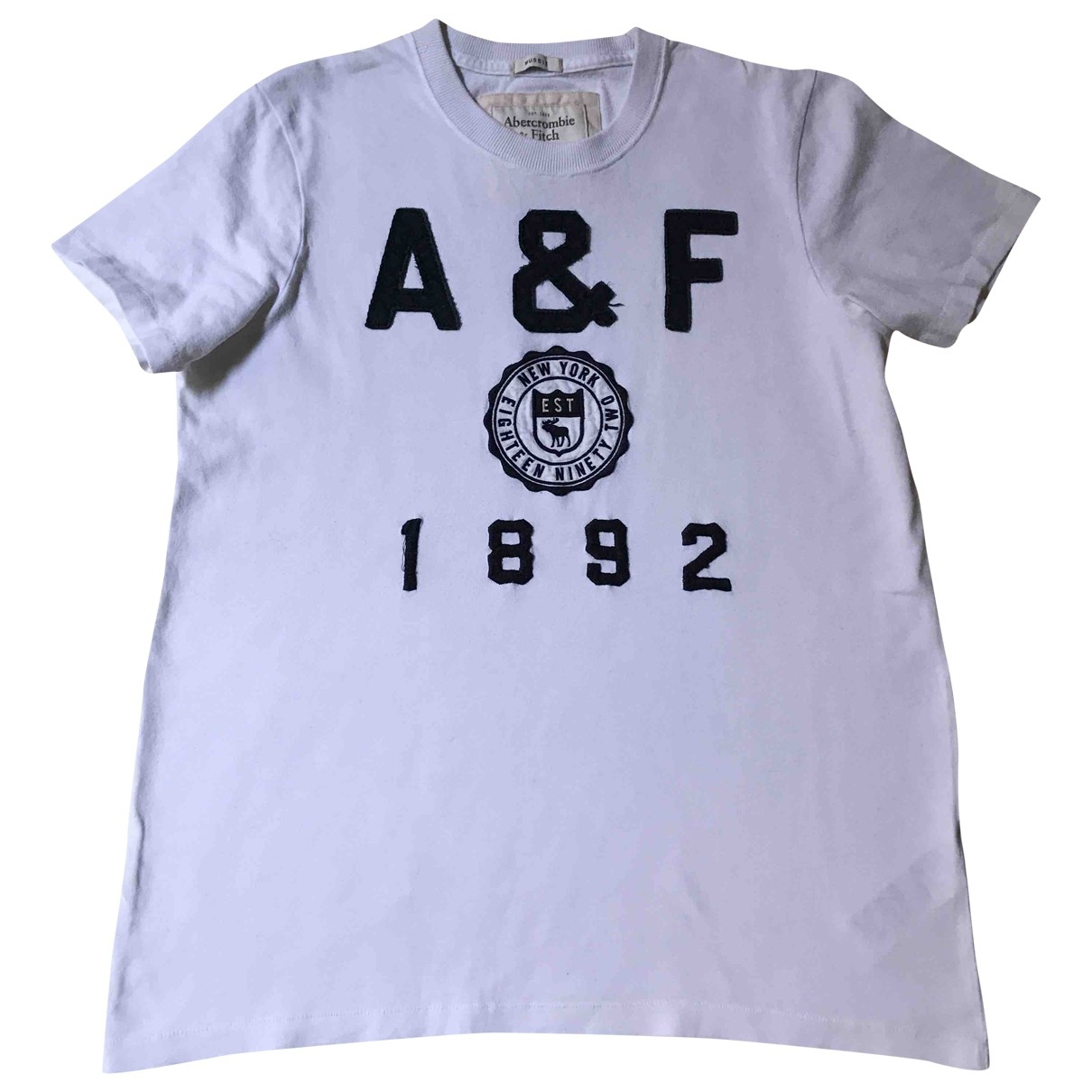 Abercrombie & Fitch \N White Cotton T-shirts for Men M International