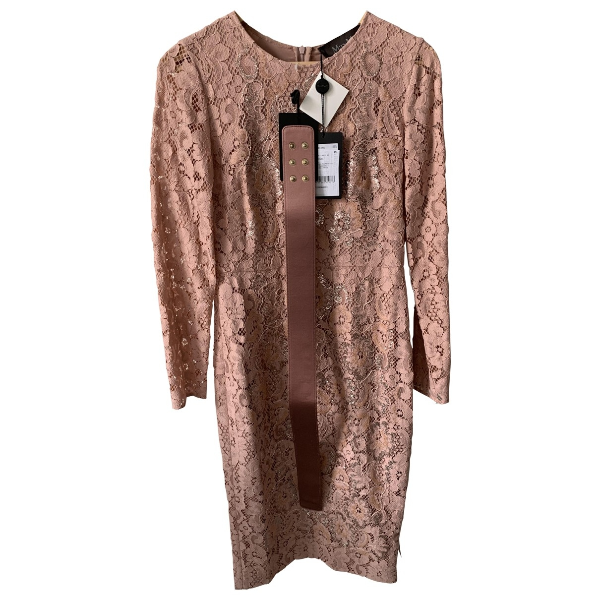 Max Mara \N Pink Lace dress for Women 38 FR