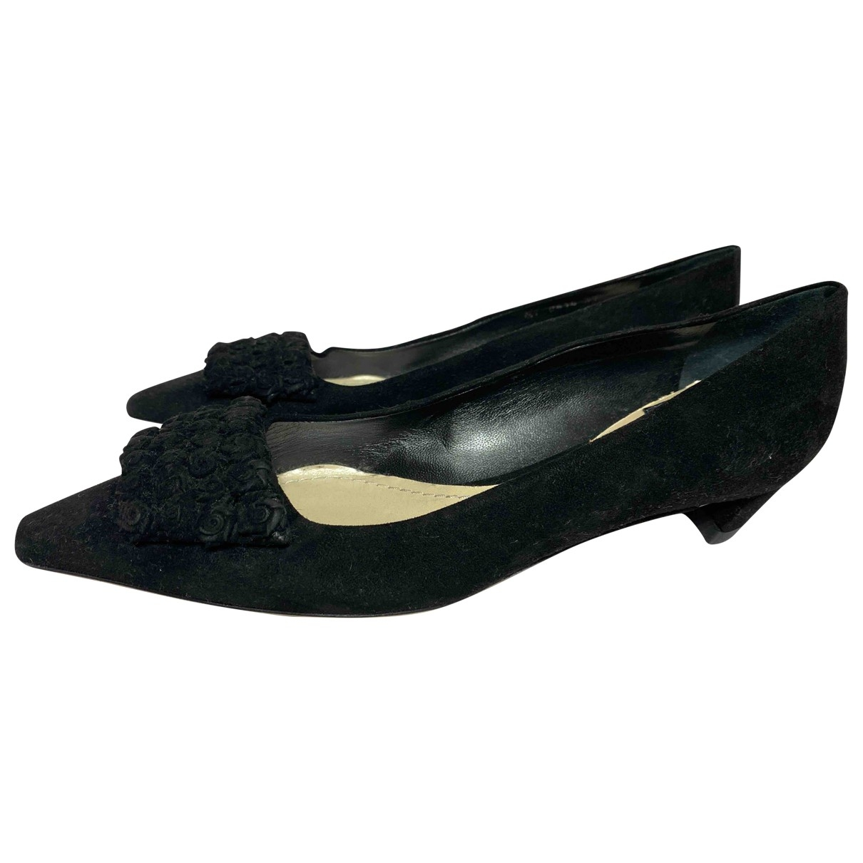 Dior \N Black Suede Ballet flats for Women 37 IT