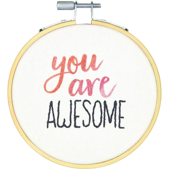 Dimensions® Embroidery Kit, You Are Awesome | Michaels®