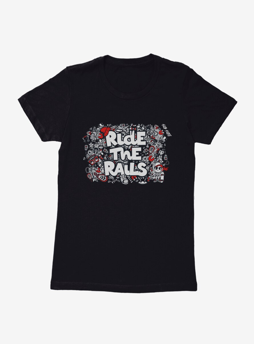 Subway Surfers Subsurf Jake Ride The Rails Collage Womens T-Shirt