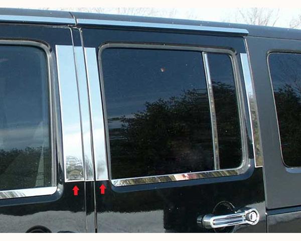 Quality Automotive Accessories 4-Piece Pillar Post Trim Kit Jeep Wrangler 2008