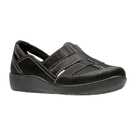 Clarks Womens Sillian Stork Slip-On Shoe, 8 1/2 Medium, Black