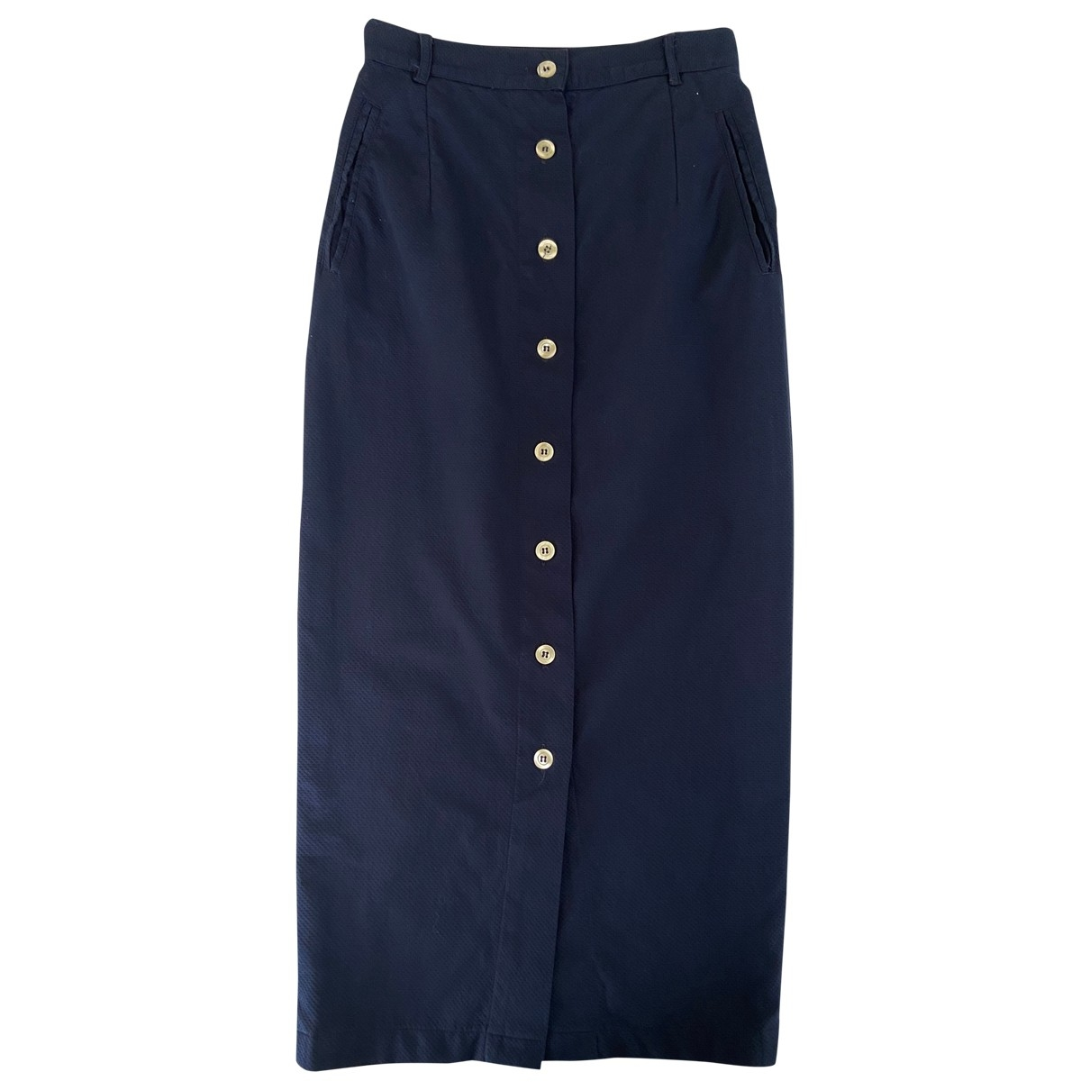Aspesi \N Blue Cotton skirt for Women 42 IT