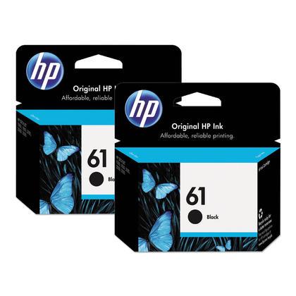 HP 61 CH561WN cartouche d'encre originale noire paquet double - 2/paquet
