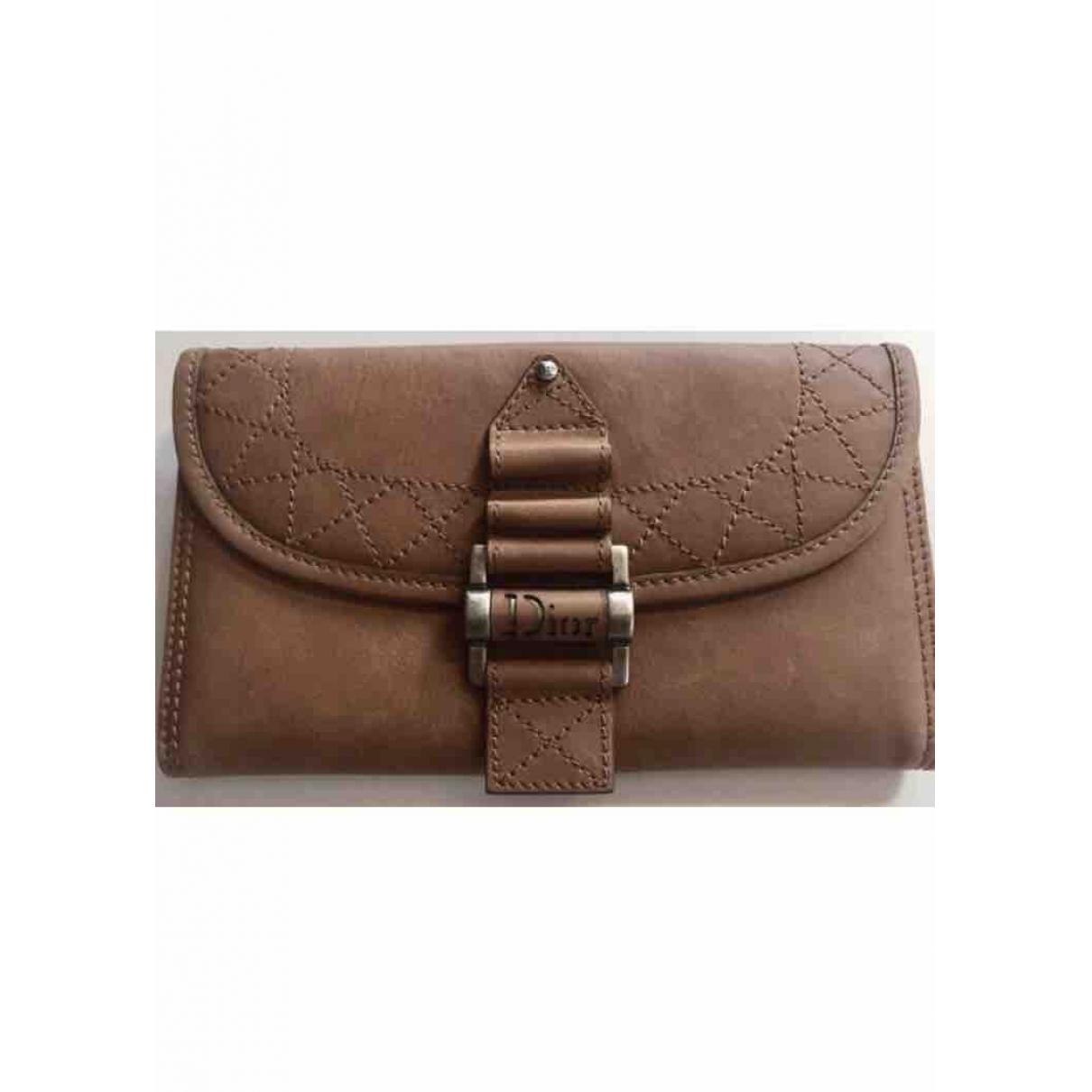 Dior \N Camel Leather wallet for Women \N