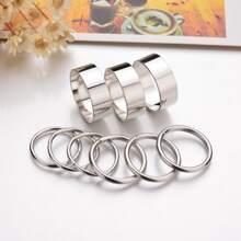 9pcs Men Simple Ring