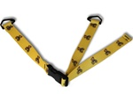Consumer Child Restraint Safety Strap With Patterned Polyester Webbing