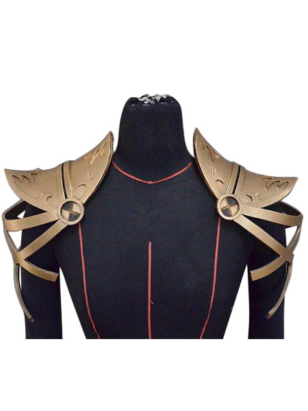 Milanoo Fate Grand Order FGO Cosplay Lancer Scathach Gold Cosplay Pauldron Halloween