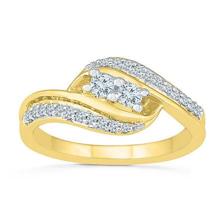 2MM 1/3 CT. T.W. Genuine White Diamond 10K Gold Band, 8 , No Color Family