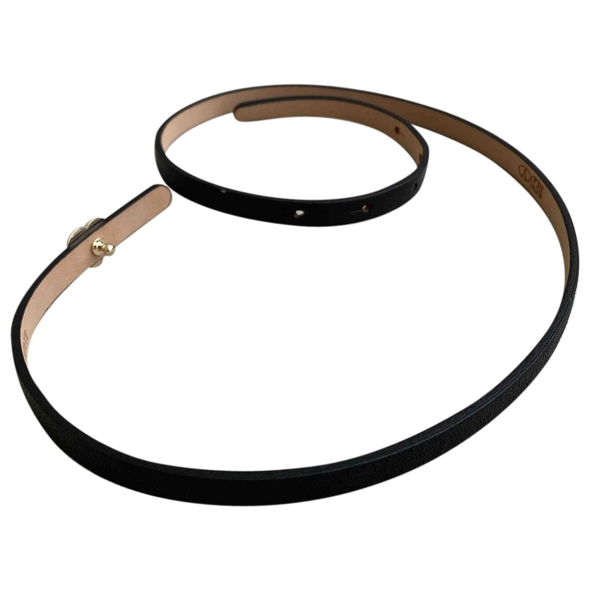 Red Valentino Garavani \N Black Leather belt for Women 70 cm