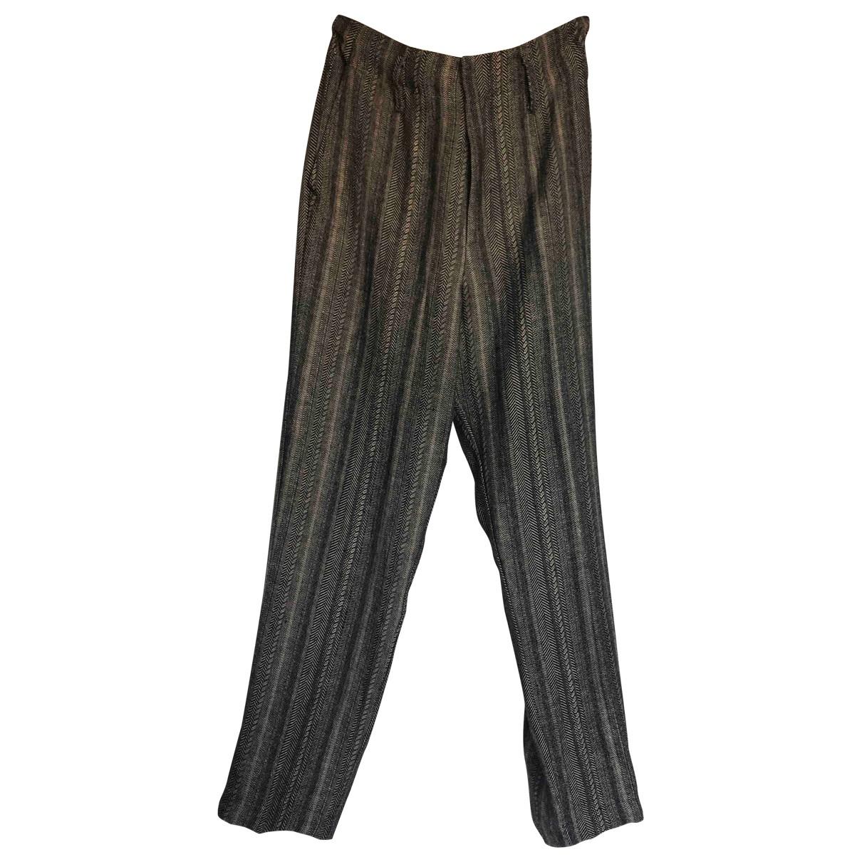 Forte_forte \N Black Linen Trousers for Women 0 0-5