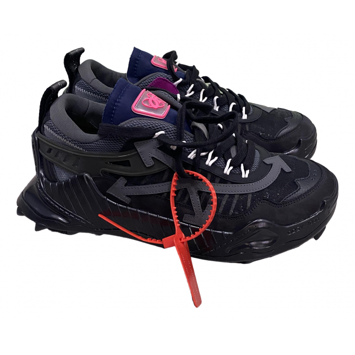 Off-white Running Black Cloth Trainers for Men 42 EU