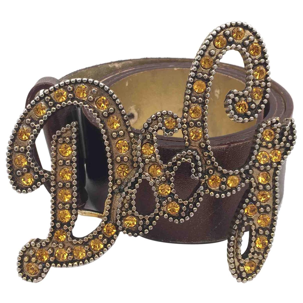Dolce & Gabbana \N White Leather belt for Women 80 cm