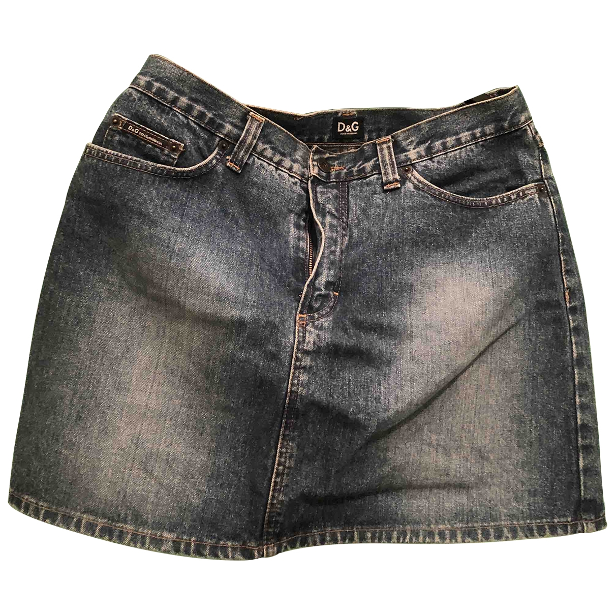 D&g \N Blue Denim - Jeans skirt for Women 44 FR