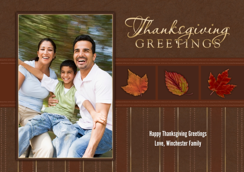 Thanksgiving Photo Cards 5x7 Cards, Standard Cardstock 85lb, Card & Stationery -Thanksgiving Greetings