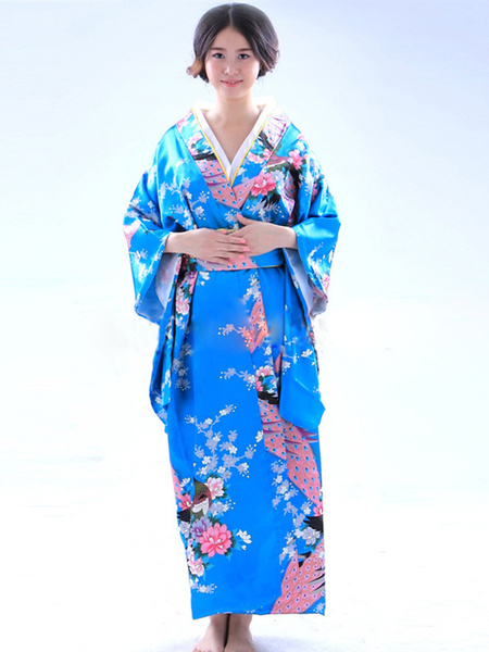 Milanoo Halloween Traditional Japanese Kimono Costume