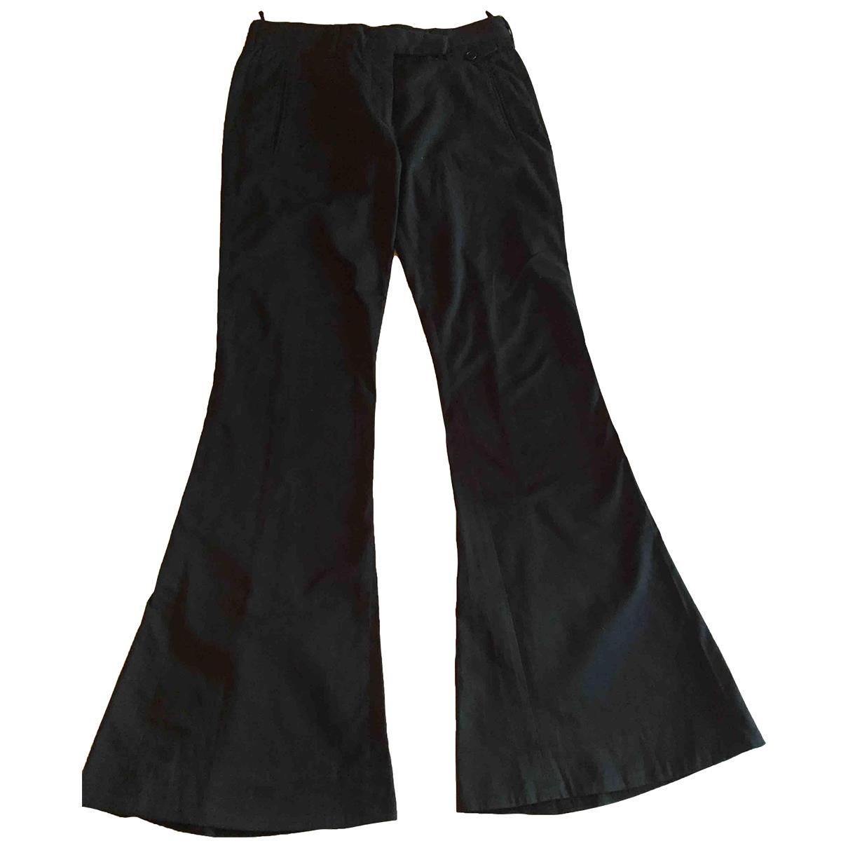 Prada \N Black Cotton Trousers for Women 40 IT