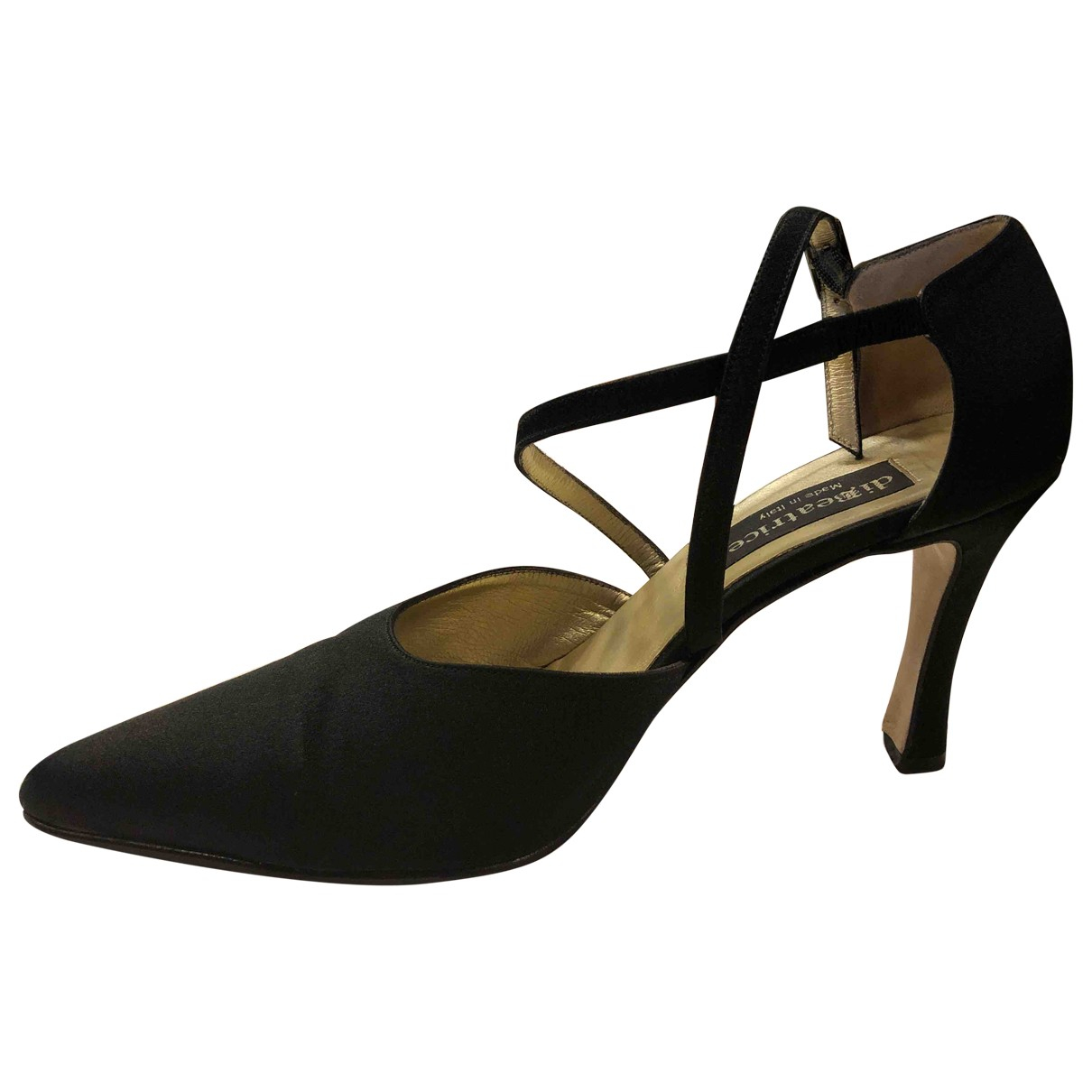 Non Signé / Unsigned \N Black Cloth Sandals for Women 38 IT
