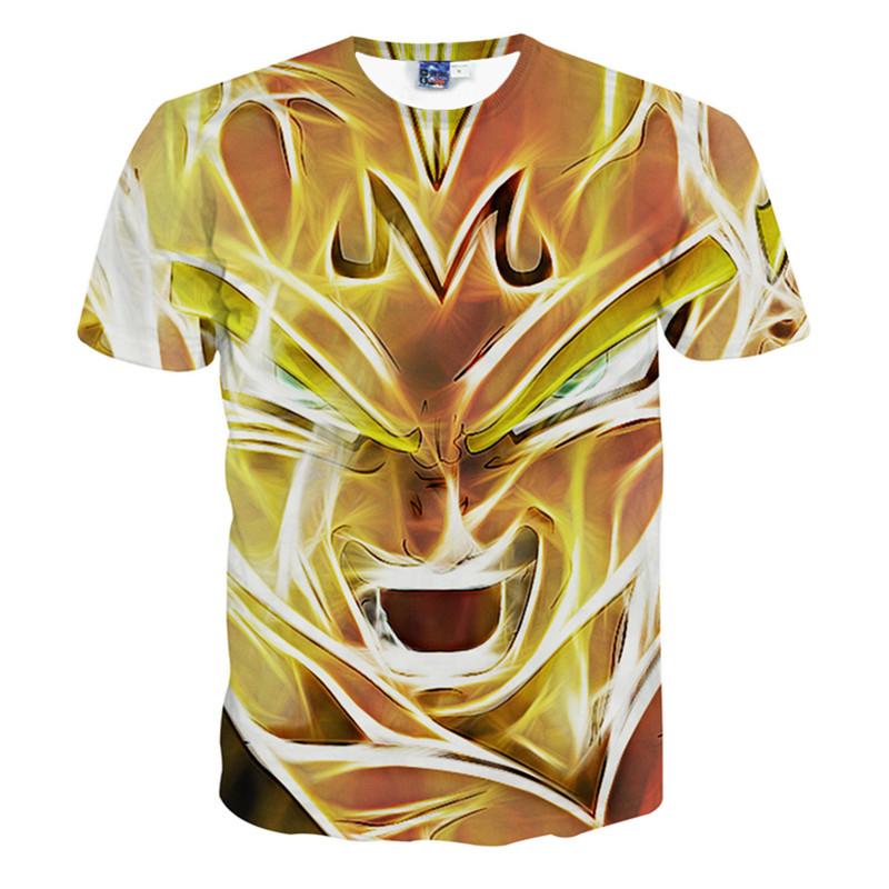Marvelous Round Neck Digital Lion Pattern 3D Painted T-Shirt