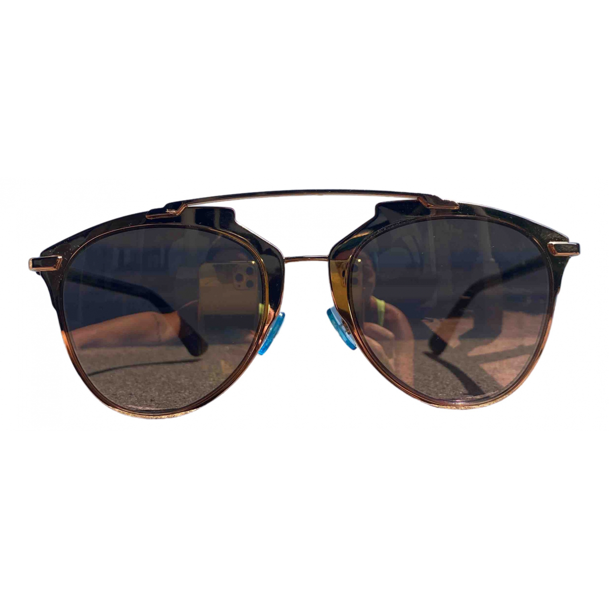 Dior Reflected Gold Metal Sunglasses for Women \N
