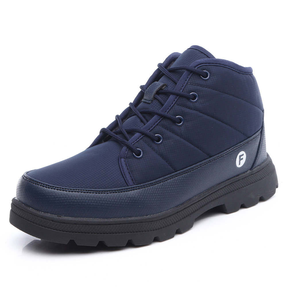 Men Waterproof Cloth Outdoor Slip Resistant Lace Up Casual Ankle Boots